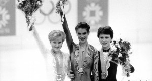 On February 18, 1984, Katarina Witt won the gold medal at the Olympic Winter Games in Sarajevo